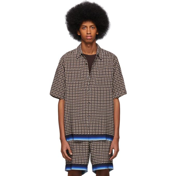 Photo: Dries Van Noten Brown Geometric Classen Shirt