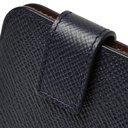Smythson - Panama Cross-Grain Leather iPhone 8 Case - Midnight blue