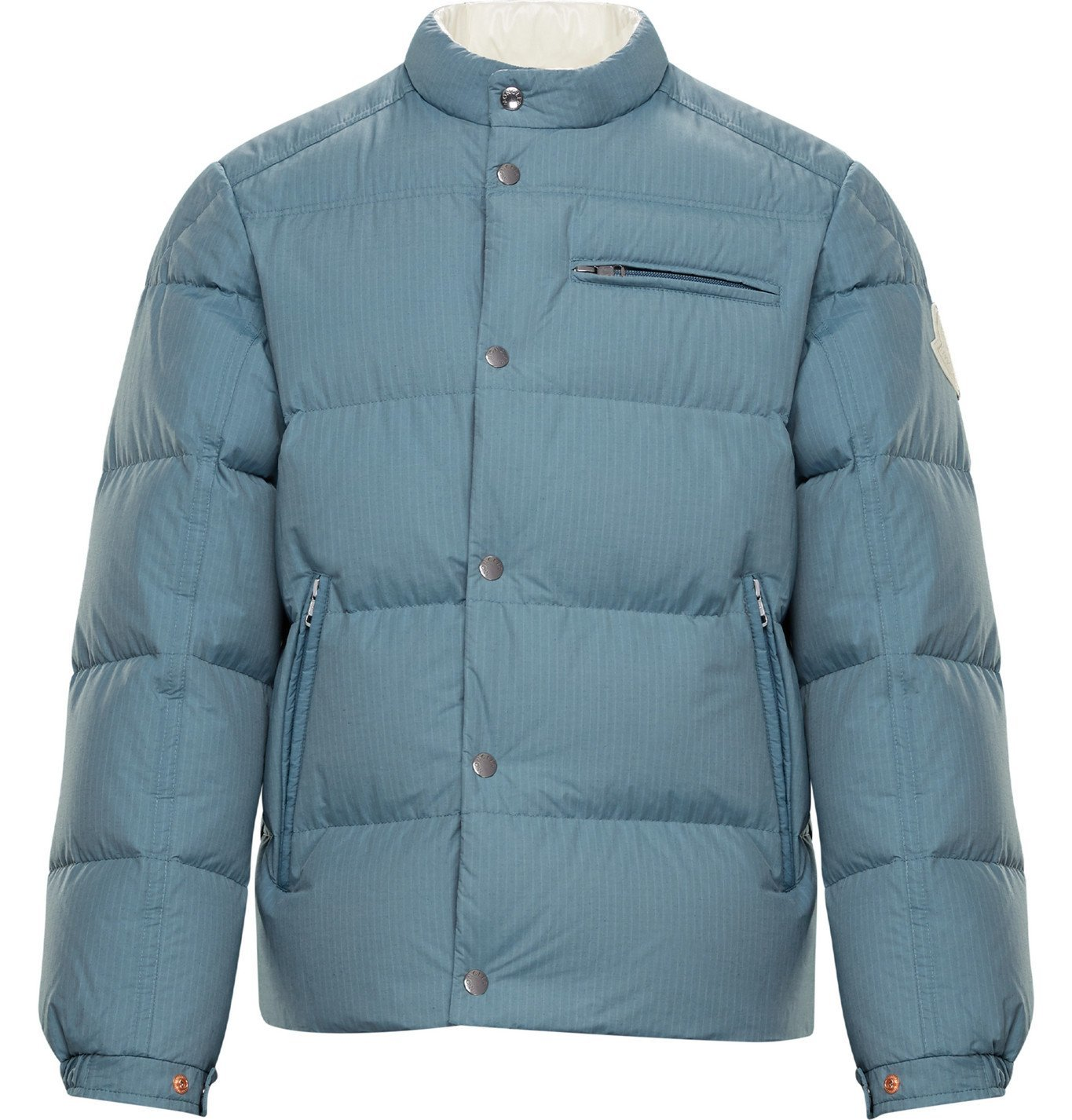 Photo: Moncler Genius - 2 Moncler 1952 Beardmore Quilted Cotton-Blend Shell Down Jacket - Blue