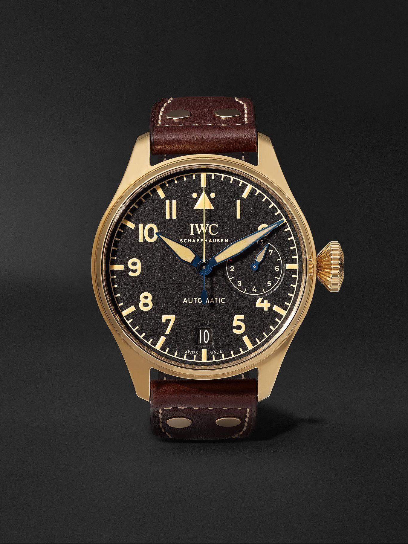Photo: IWC Schaffhausen - Big Pilot's Heritage Limited Edition Automatic 46mm Bronze and Leather Watch, Ref. No. IW501005