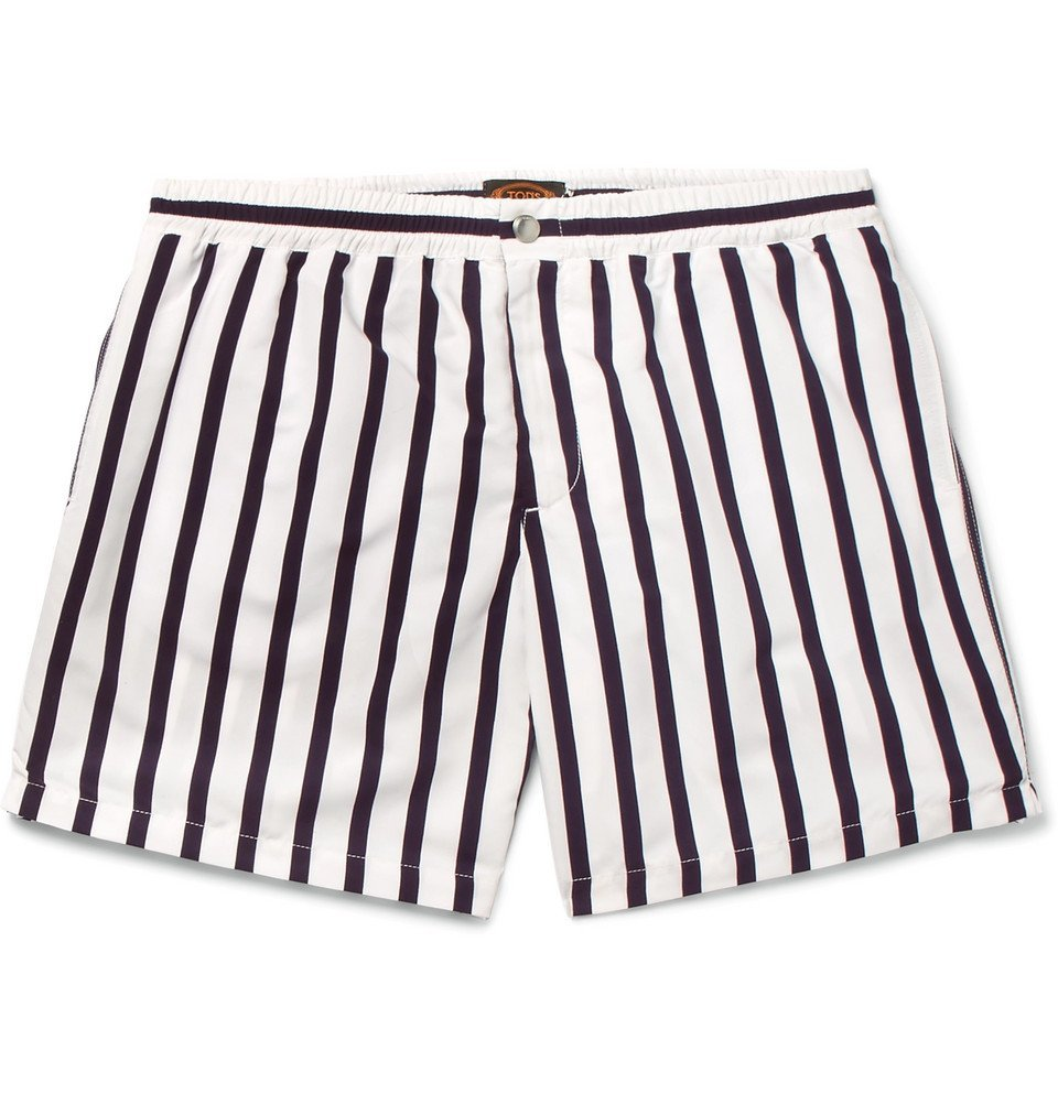 Photo: Tod's - Short-Length Striped Swim Shorts - Men - Navy