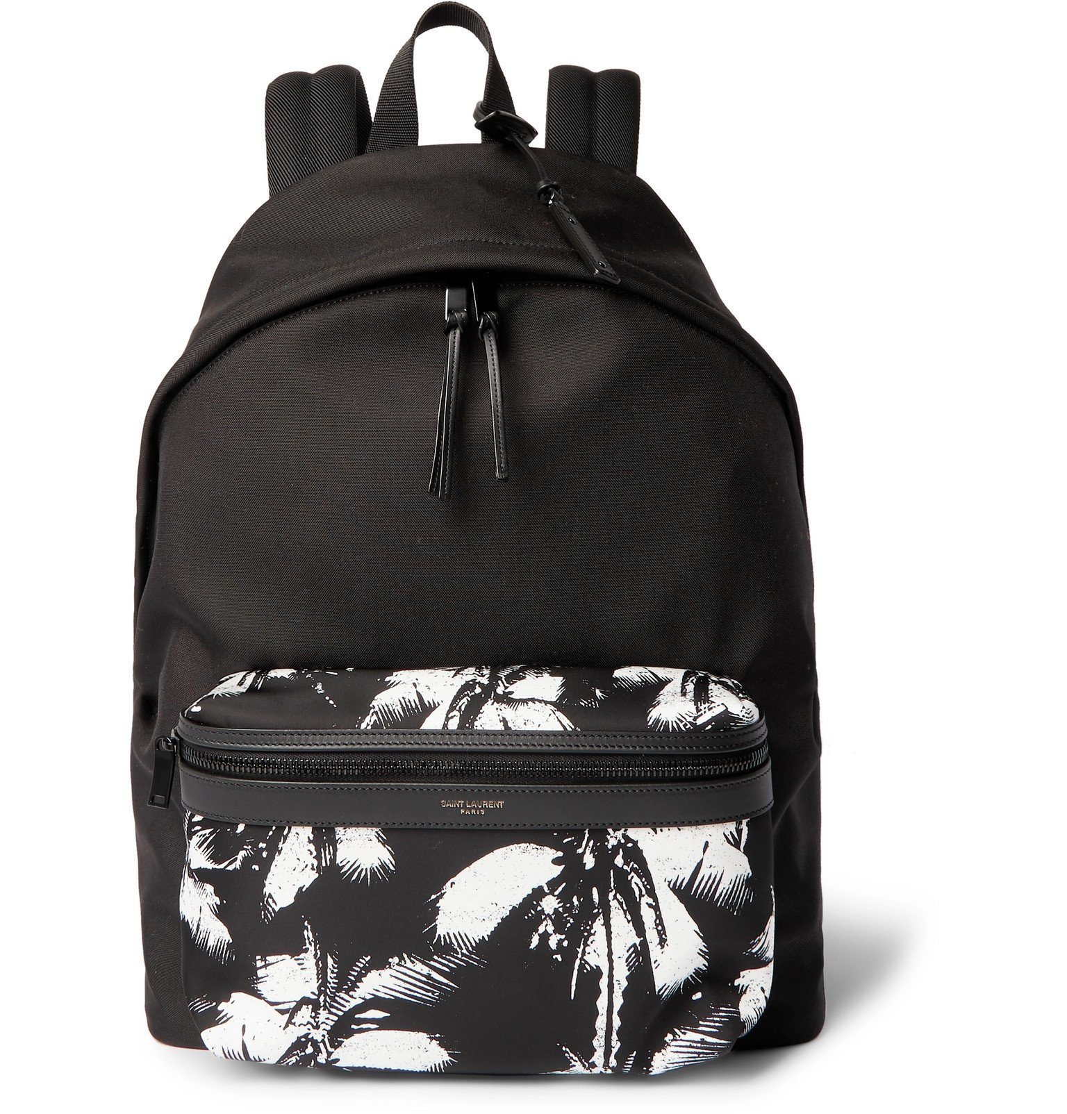 Photo: SAINT LAURENT - Printed Canvas Backpack - Black