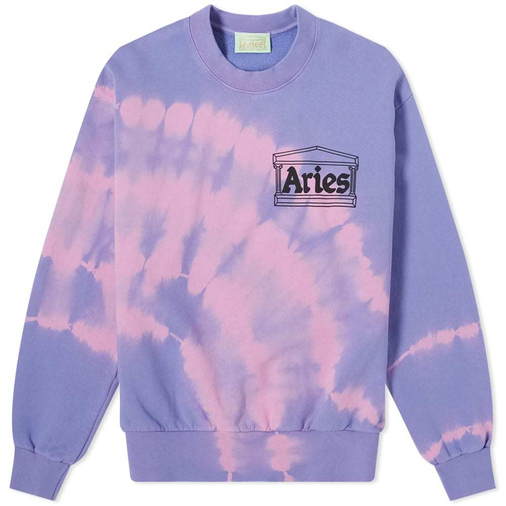 Aries Tie-Dye Temple Crew Sweat