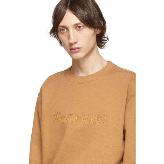 JW Anderson Tan Embroidered Logo Sweatshirt