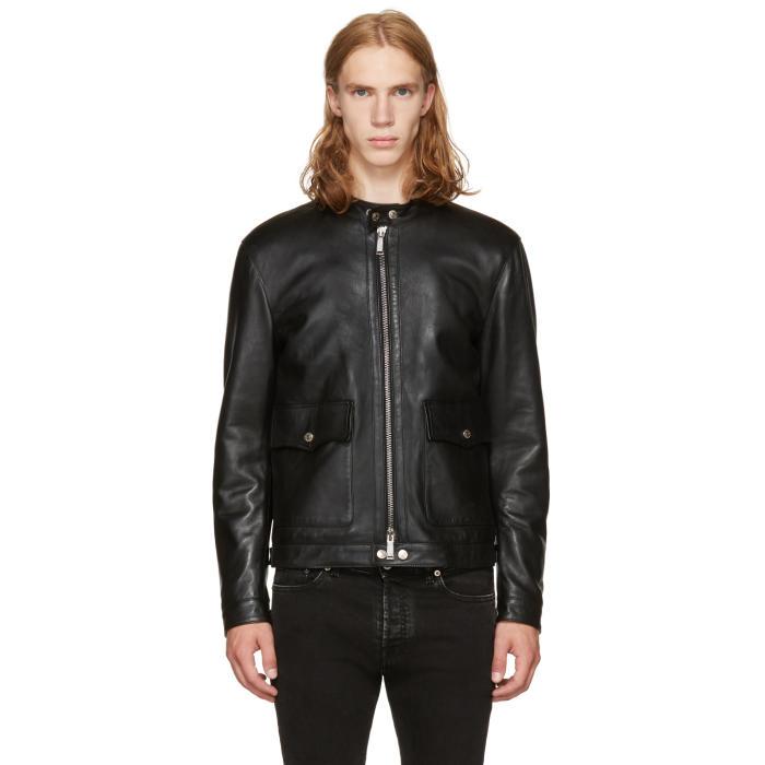 Photo: Dsquared2 Black Leather Biker Jacket