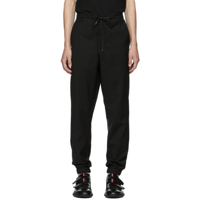 Photo: 3.1 Phillip Lim Black Wool Cropped Lounge Pants
