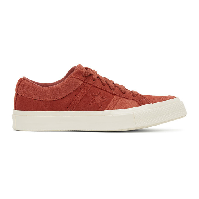 Photo: Converse Red Suede One Star Academy OX Sneakers