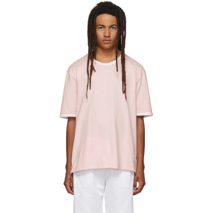 Photo: Thom Browne Pink Ringer T-Shirt
