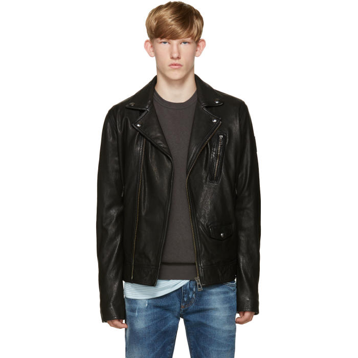 Belstaff Black Leather Beckenham Jacket