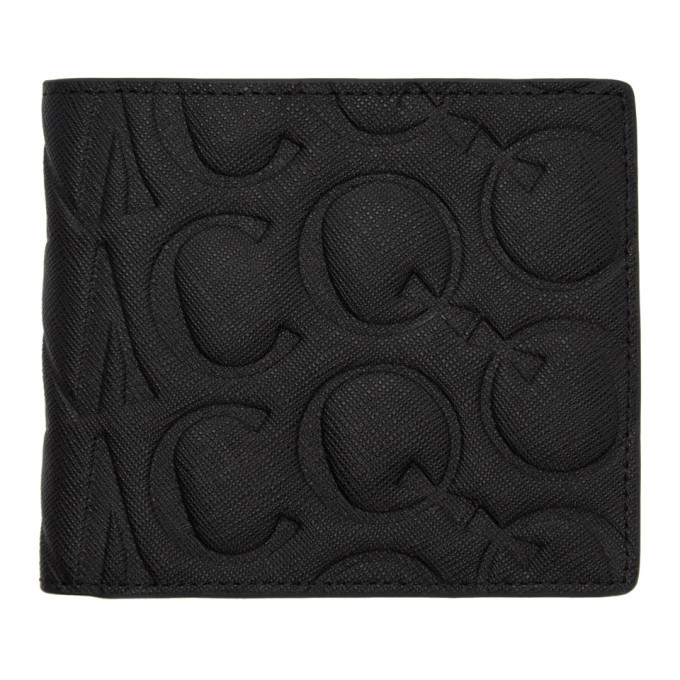 Photo: McQ Alexander McQueen Black Embossed Logo Wallet