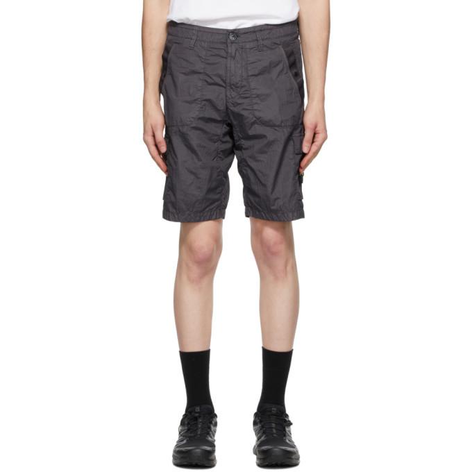 Photo: Stone Island Grey Nylon Metal Shorts