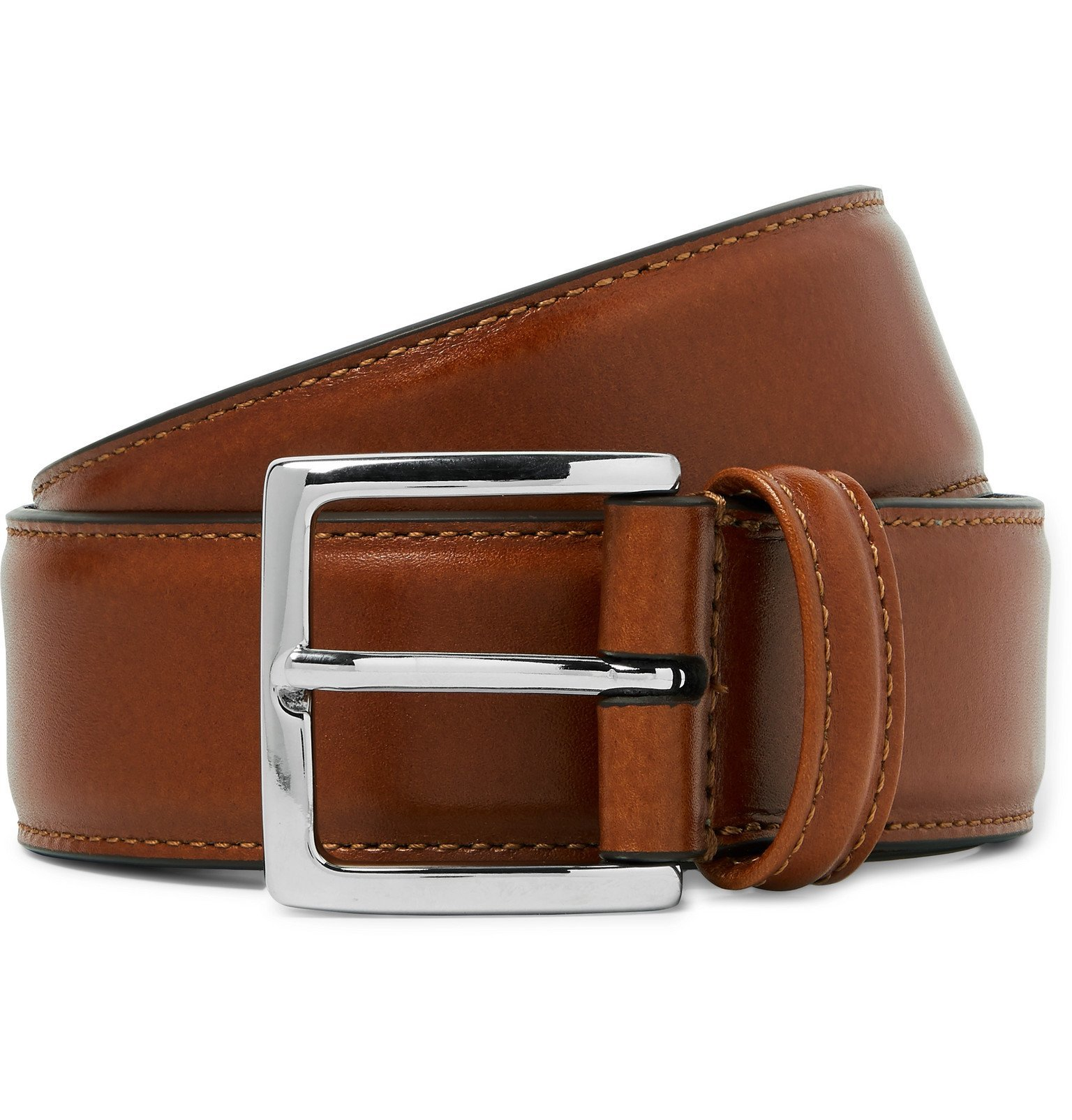 Photo: Anderson's - Tan 3.5cm Leather Belt - Brown