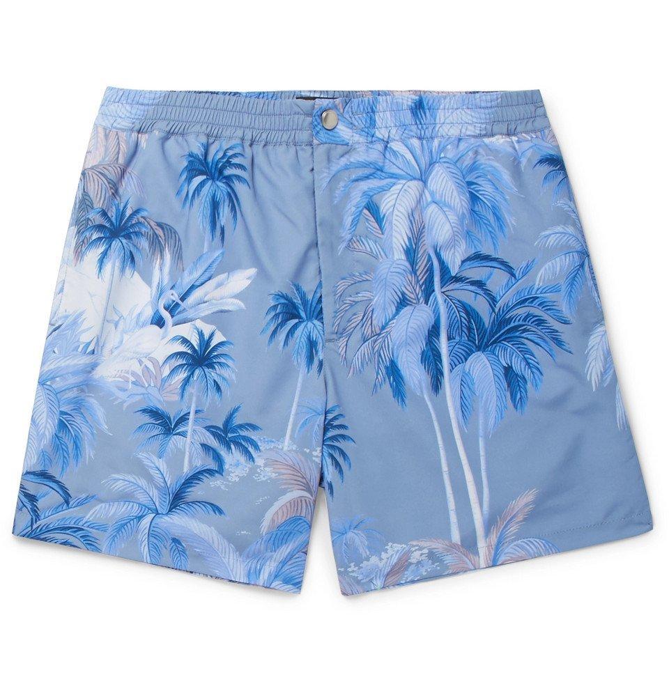 Tod's - Short-Length Printed Swim Shorts - Men - Blue