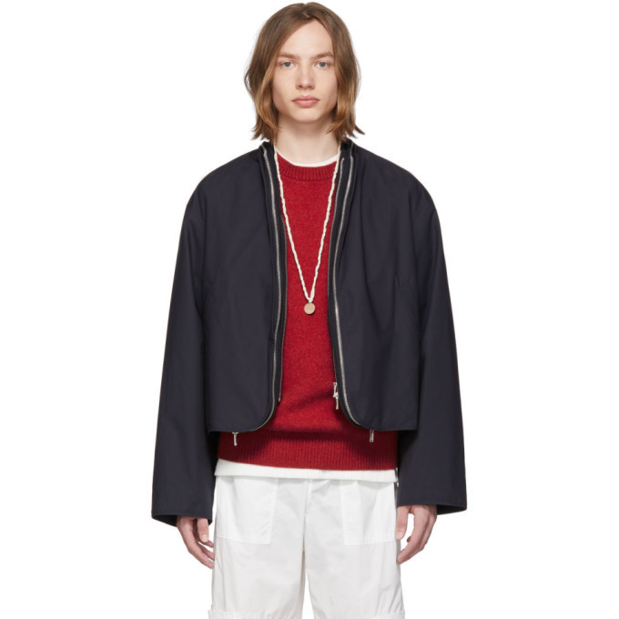 Photo: Jil Sander Navy Double Zip Renon Jacket