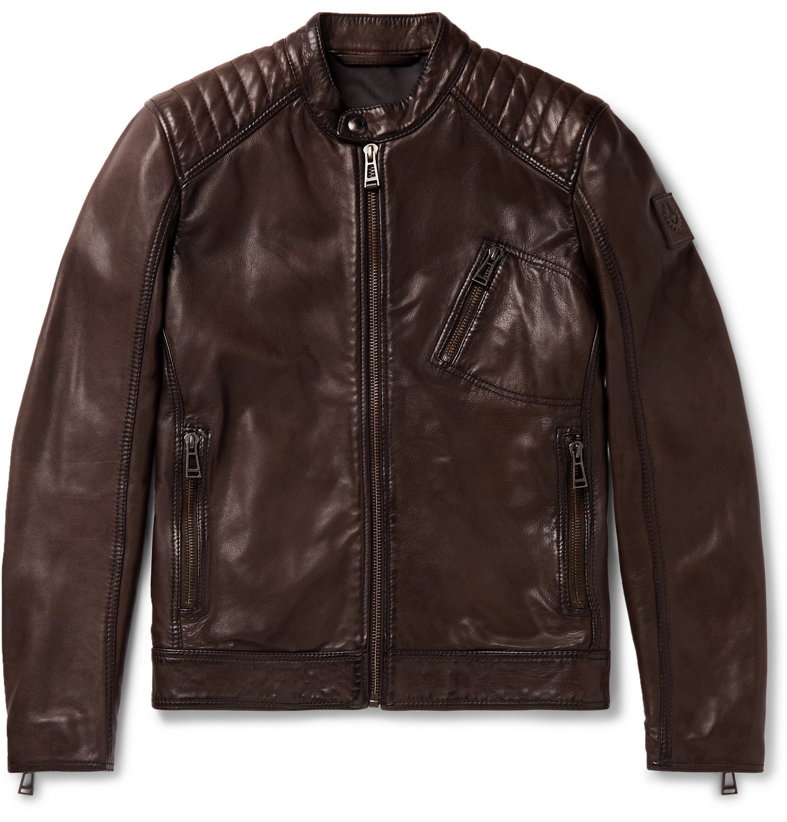 Photo: Belstaff - V Racer 2.0 Leather Jacket - Brown