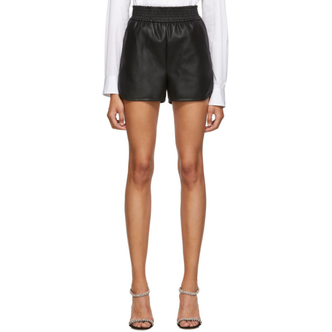 Photo: Wolford Black Faux-Leather Stella Shorts