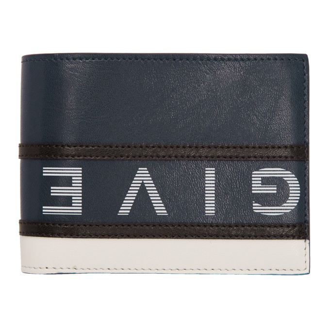 Photo: Givenchy Navy and White Reverse Logo Bifold Wallet