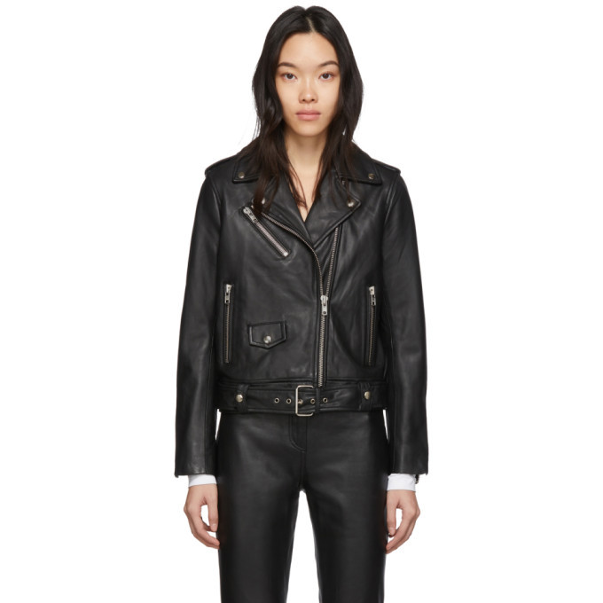 Photo: Stand Studio Black Leather Polly Biker Jacket