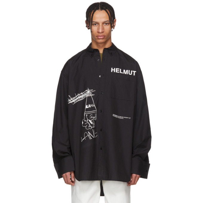 Helmut Lang Black Shayne Oliver Index Shirt