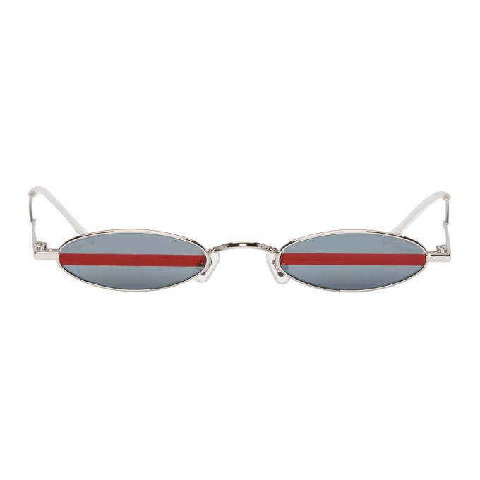 dae93120e70d Gentle Monster Silver Stripe Vector Sunglasses Gentle Monster