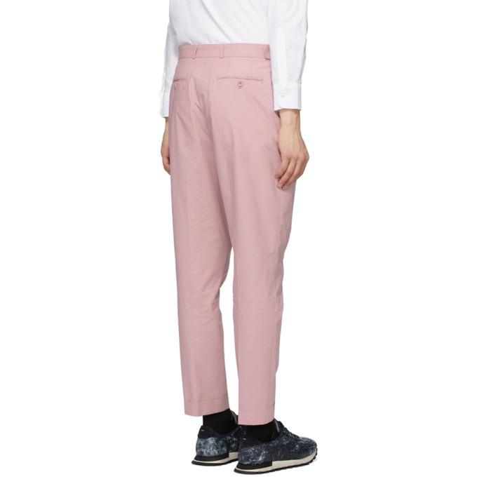 Officine Generale Pink Poplin Pierre Trousers
