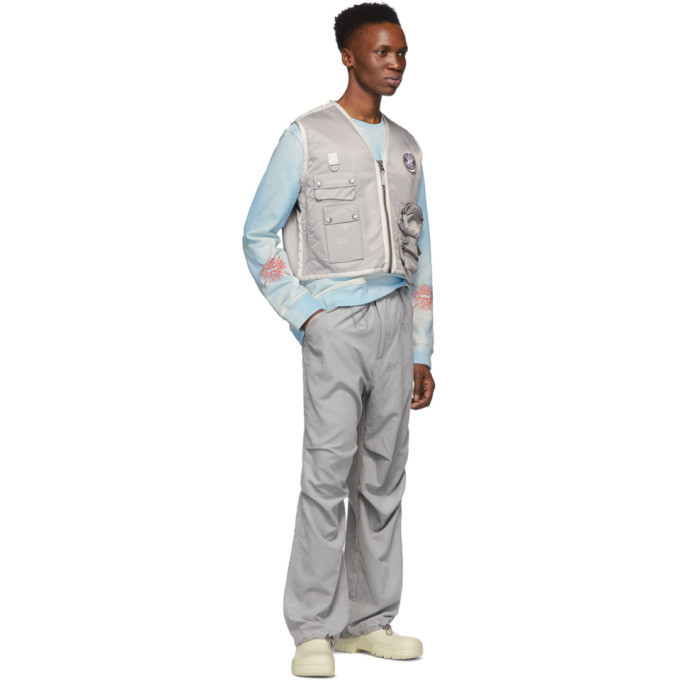 032c Grey Cosmic Workshop Flap Pocket Trousers