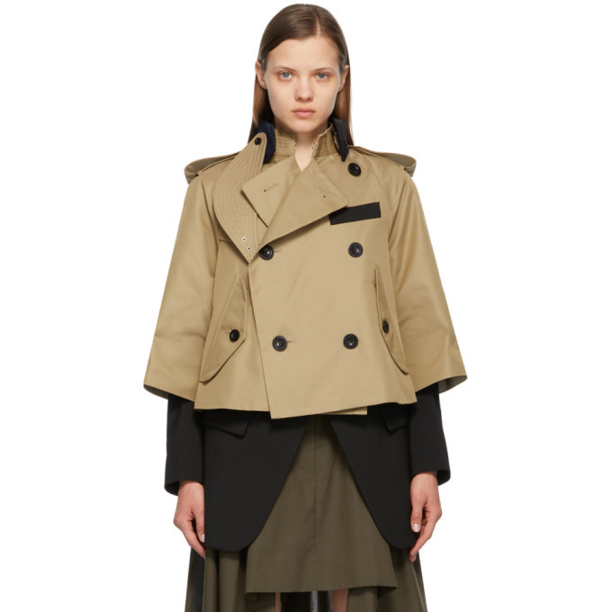 Sacai Beige Gabardine Suiting Jacket