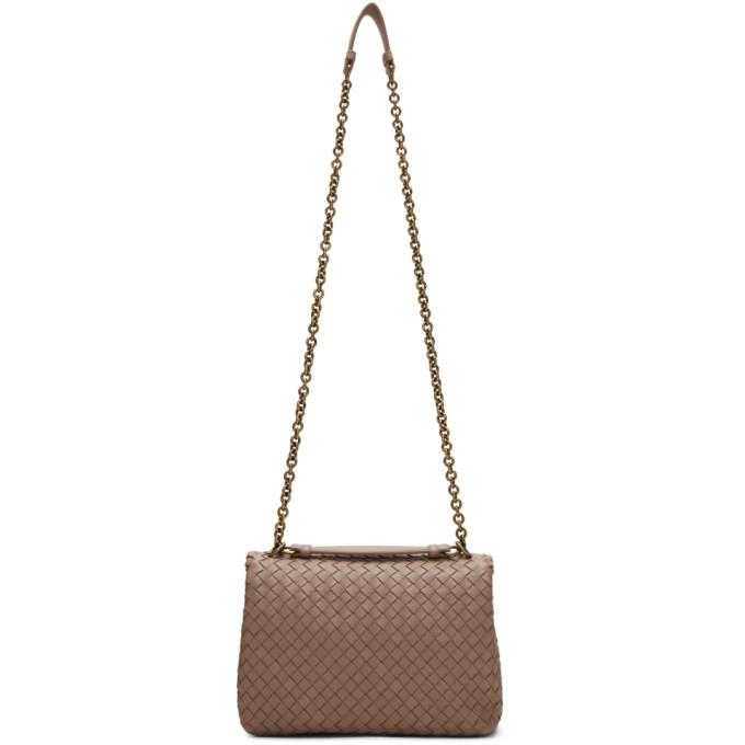 Bottega Veneta Pink Small Intrecciato Olimpia Bag