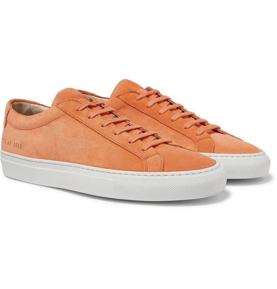 Common Projects - Original Achilles Suede Sneakers - Men - Orange