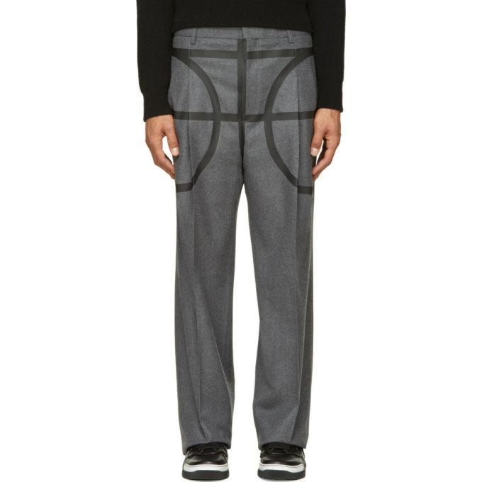 Photo: Givenchy Grey Basketball Pillar Trousers