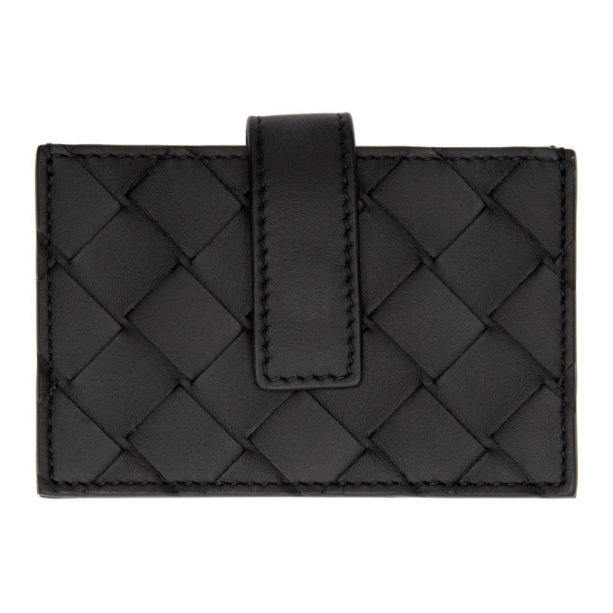 Photo: Bottega Veneta Black Small Intrecciato Card Holder