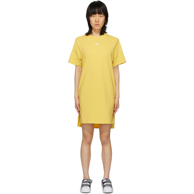 adidas Originals Yellow Trefoil Dress