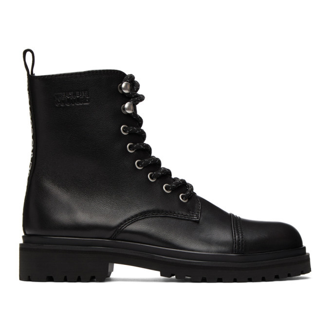 Photo: Versace Jeans Couture Black Lace-Up Boots