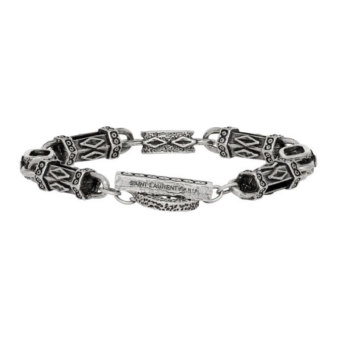 Photo: Saint Laurent Silver Navajo Bracelet