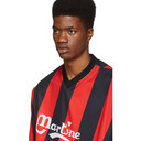 Martine Rose Black and Red Twist Football T-Shirt