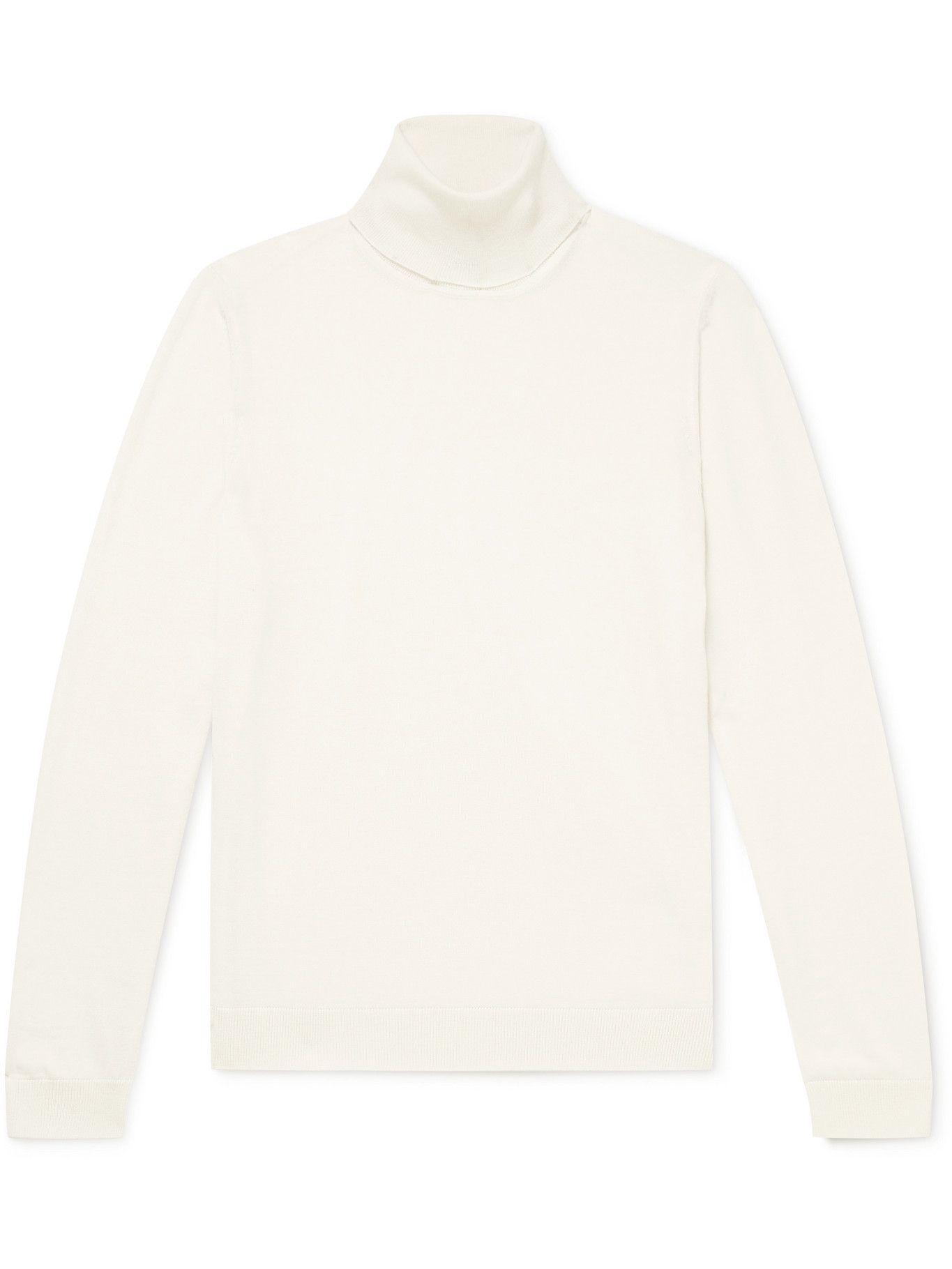 Photo: Hugo Boss - Slim-Fit Virgin Wool Rollneck Sweater - Neutrals