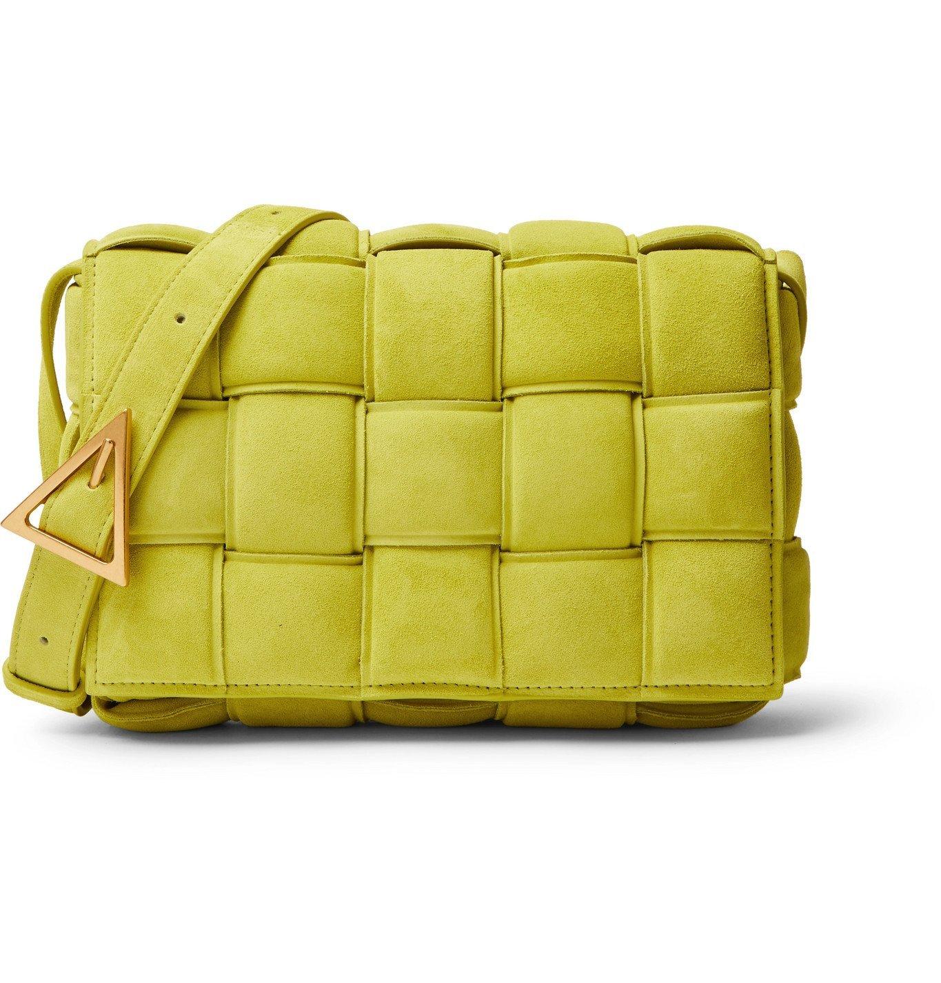 Photo: Bottega Veneta - Intrecciato Padded Suede Messenger Bag - Green