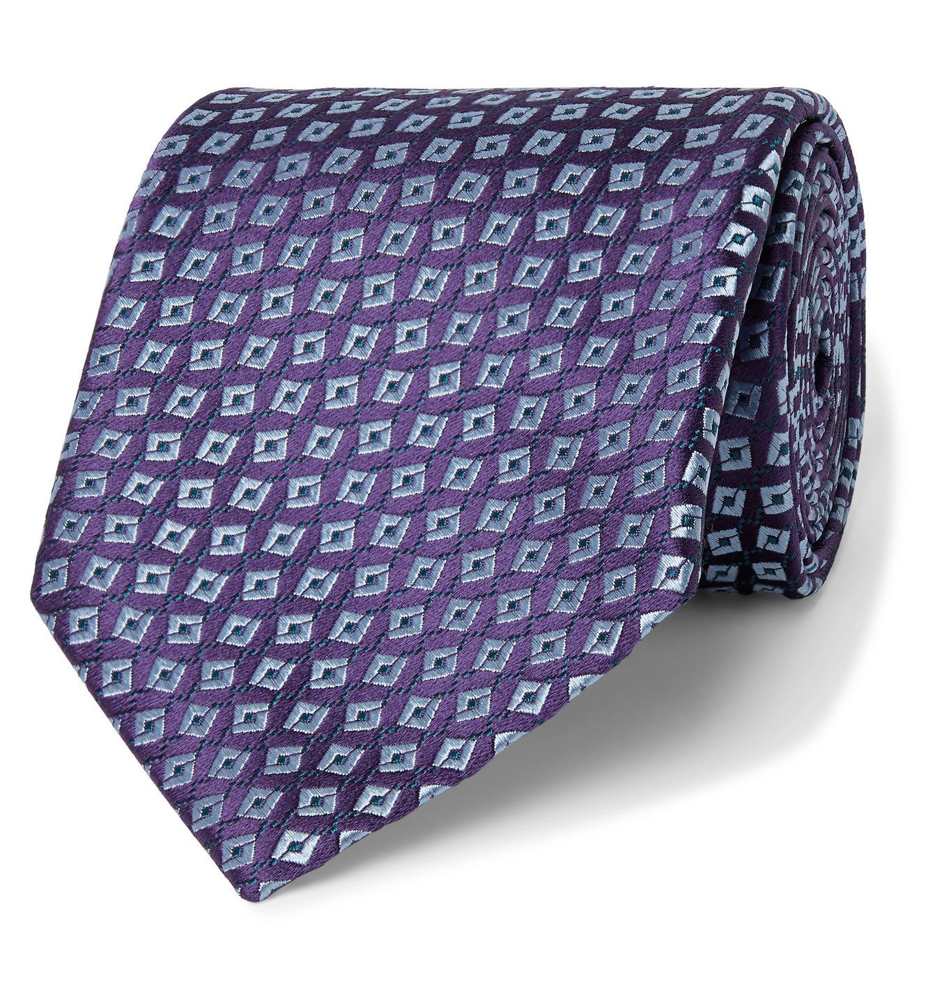 Photo: Charvet - 8.5cm Silk-Jacquard Tie - Purple