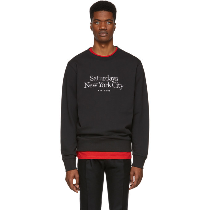 Photo: Saturdays NYC Black Miller Standard Bowery Sweatshirt