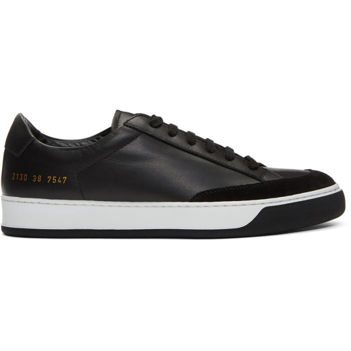 Common Projects Black Tennis Pro Sneakers