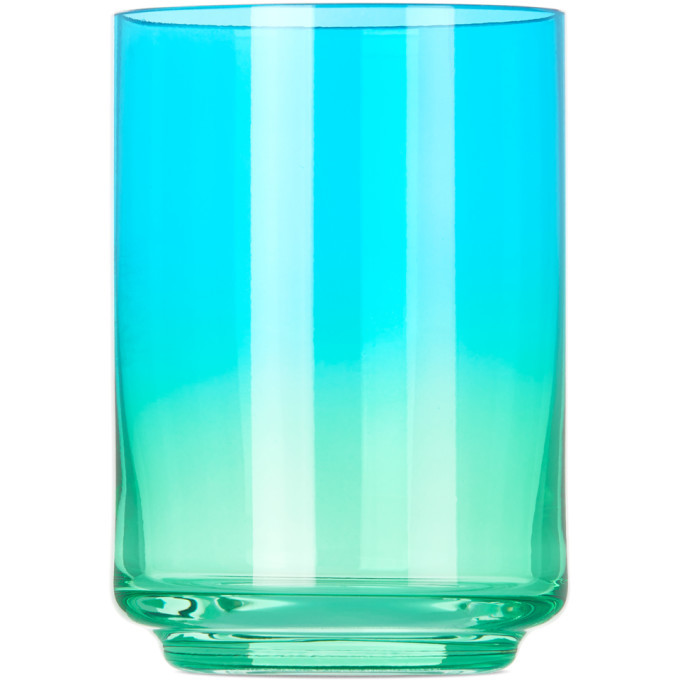 Photo: Lateral Objects Blue and Green Rio Gradient Glass