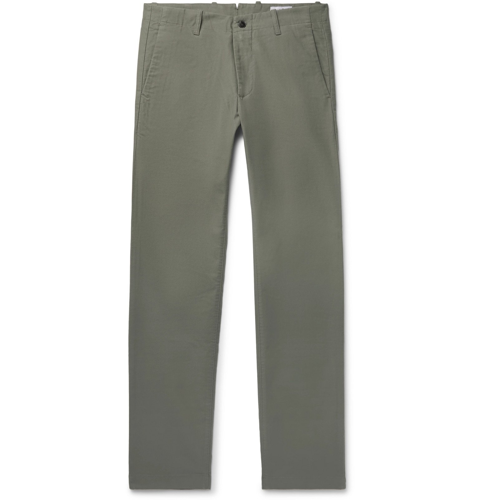 Photo: NN07 - Steven Stretch-Cotton Twill Chinos - Green