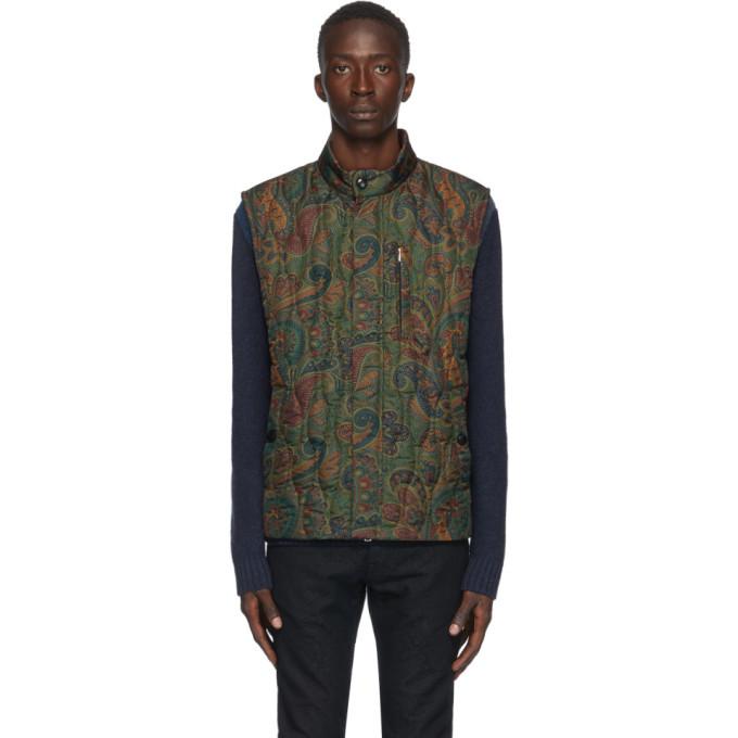Photo: Etro Green Paisley Vest