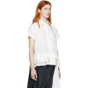Sacai White Poplin Short Sleeve Shirt