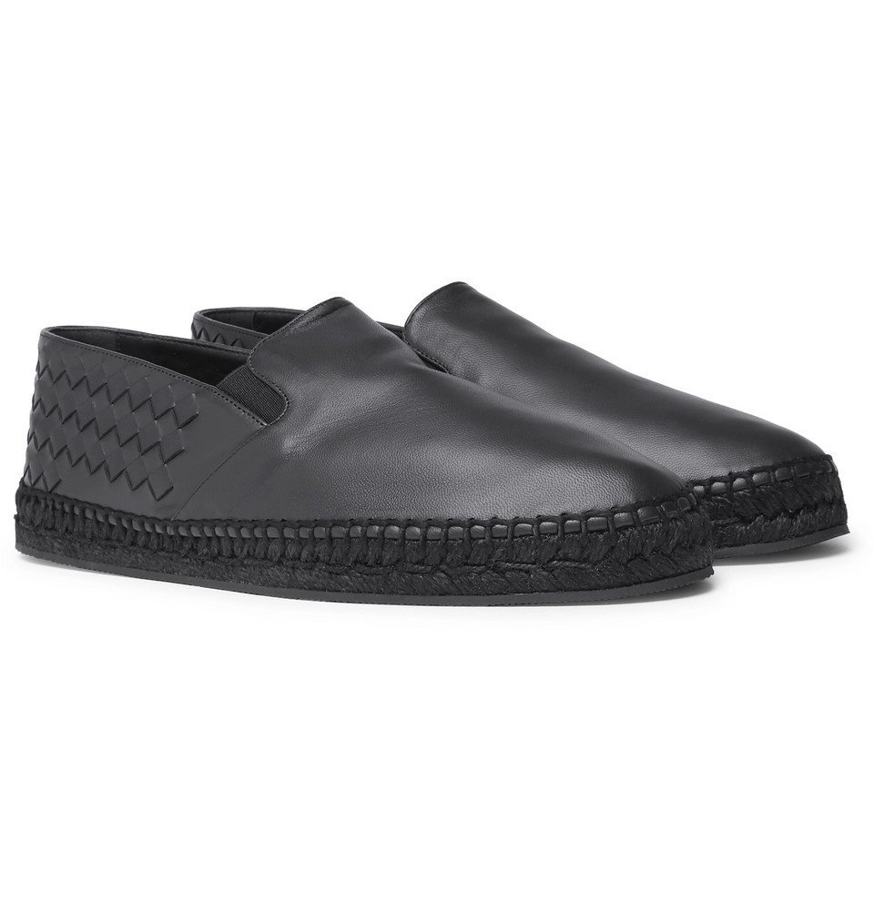 Bottega Veneta - Intrecciato Leather Espadrilles - Men - Navy