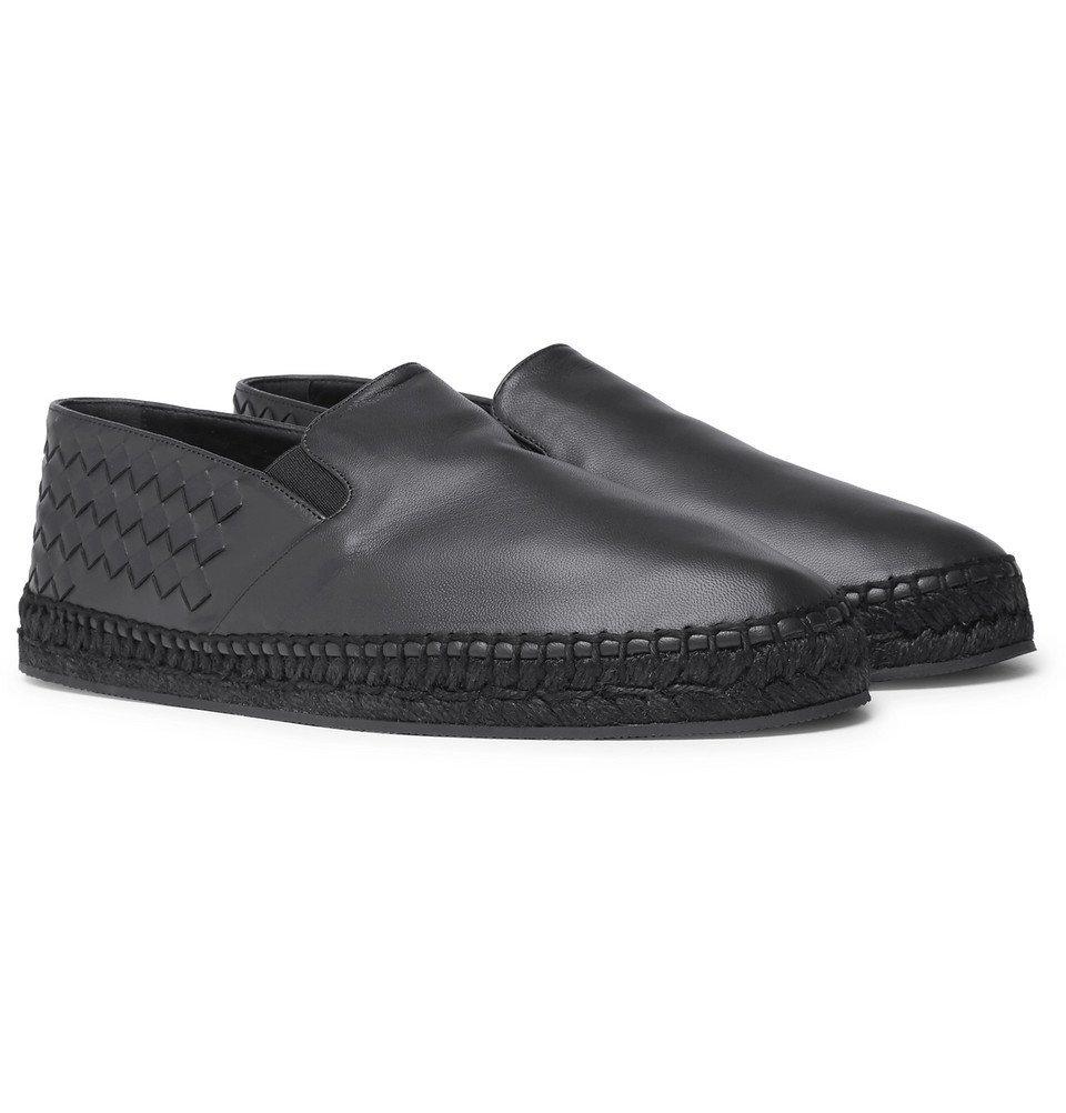 Bottega Veneta - Intrecciato Leather Espadrilles - Men - Navy