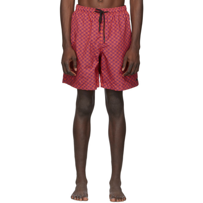 Photo: Solid and Striped Red and Purple The California Swim Shorts