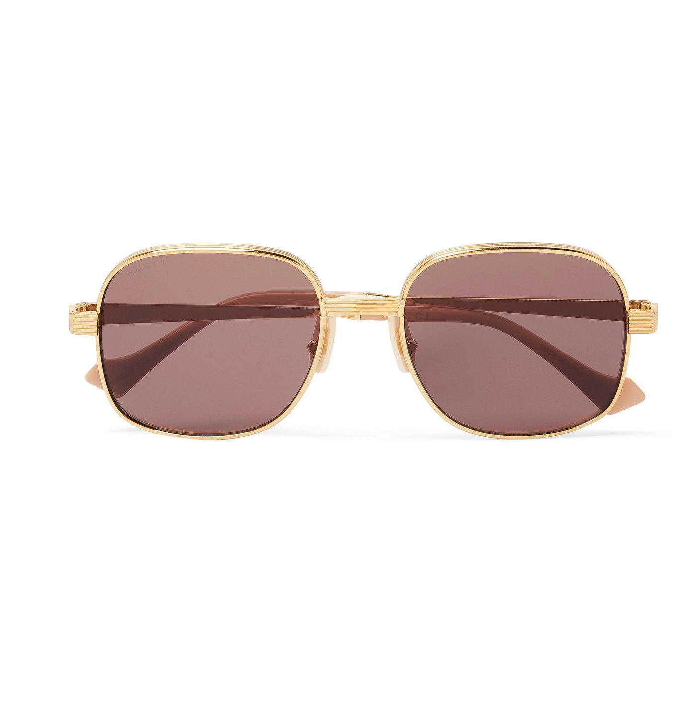 Photo: Gucci - Round-Frame Gold-Tone Sunglasses - Gold