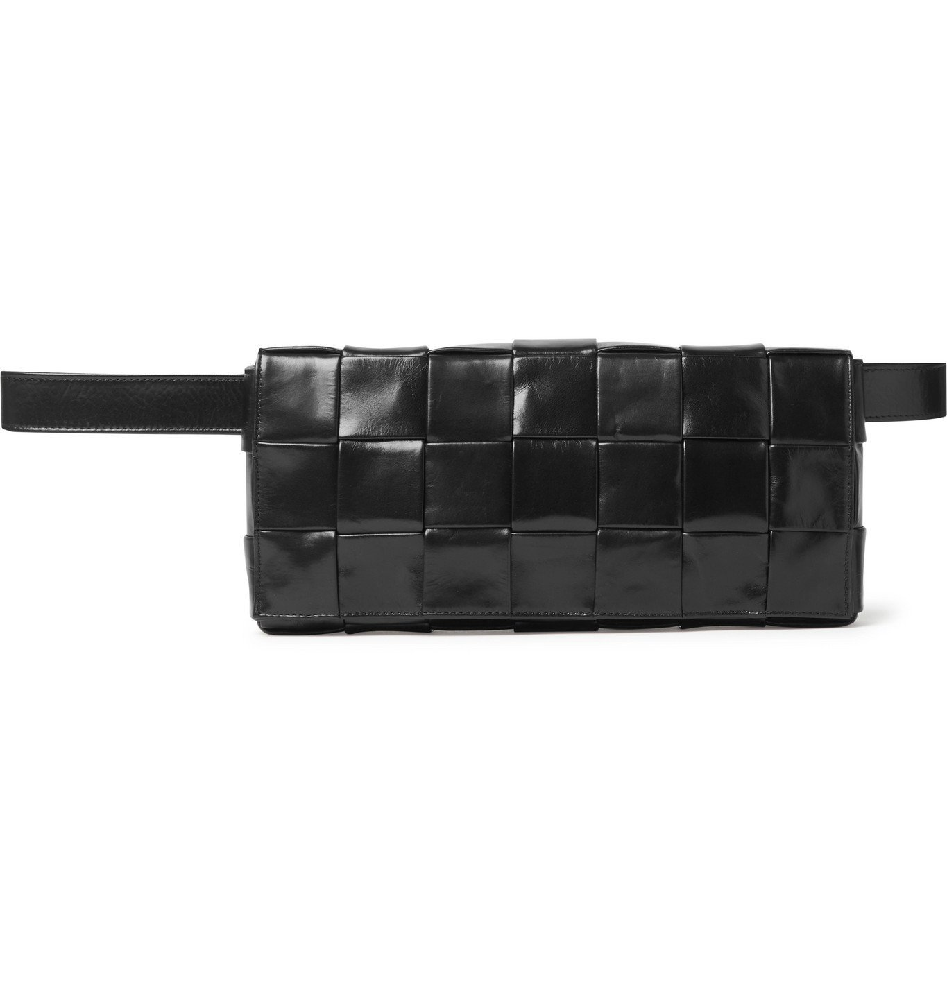 Photo: Bottega Veneta - Intrecciato Leather and Suede Belt Bag - Black