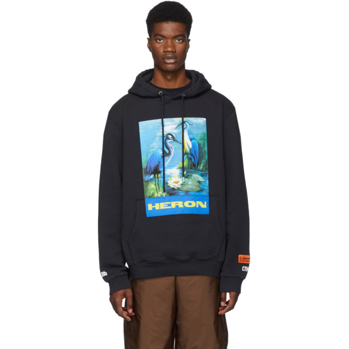 Photo: Heron Preston Navy Heron Birds Hoodie
